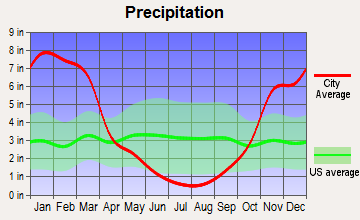 Kirkwood, California average precipitation
