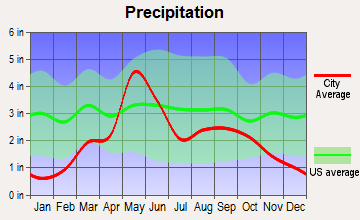 South Ellis, Oklahoma average precipitation