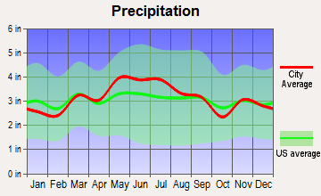 Versailles, Pennsylvania average precipitation