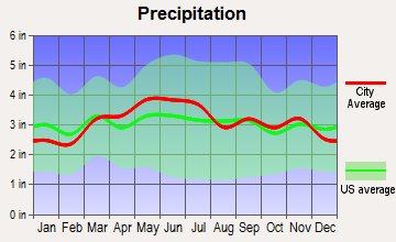 Woodbury, Pennsylvania average precipitation