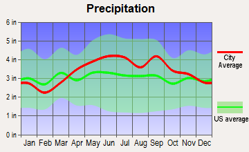 Plymouth, Pennsylvania average precipitation