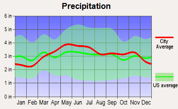 Everett, Pennsylvania average precipitation