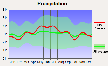 Houston, Pennsylvania average precipitation