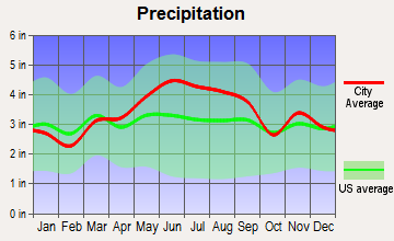 Lenape Heights, Pennsylvania average precipitation