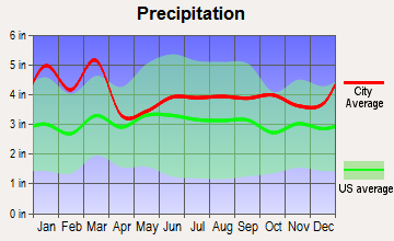 Buffalo, South Carolina average precipitation