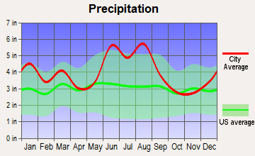 Gifford, South Carolina average precipitation