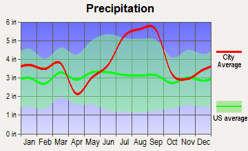 Myrtle Beach, South Carolina average precipitation