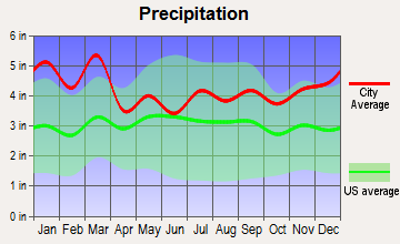 Northlake, South Carolina average precipitation