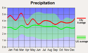 Woodruff, South Carolina average precipitation