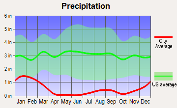 Palm Springs, California average precipitation