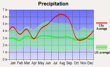 Floyds, South Carolina average precipitation