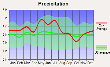 Johnson City, Tennessee average precipitation