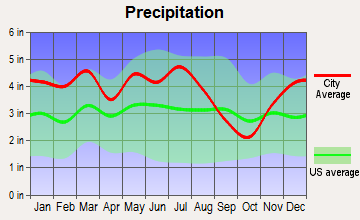 Morristown, Tennessee average precipitation
