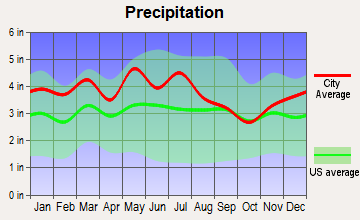 Mount Carmel, Tennessee average precipitation