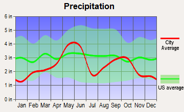 Blanket, Texas average precipitation