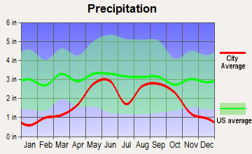 Brackettville, Texas average precipitation