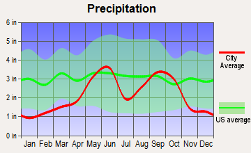 Buffalo Gap, Texas average precipitation