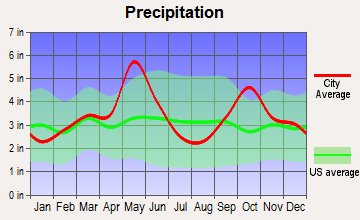 Celina, Texas average precipitation