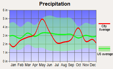 Crowley, Texas average precipitation