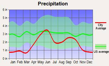 Eagle Pass, Texas average precipitation
