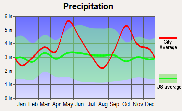 Ector, Texas average precipitation