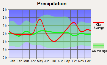 Franklin, Texas average precipitation