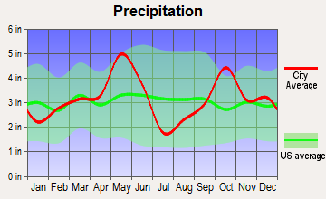 Hubbard, Texas average precipitation