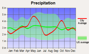 Itasca, Texas average precipitation
