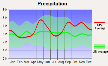Katy, Texas average precipitation