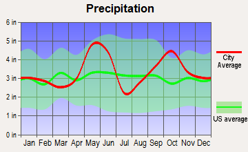 La Grange, Texas average precipitation