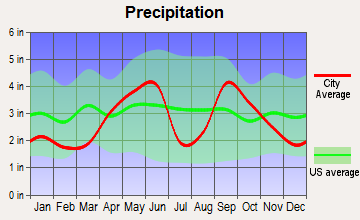 Nordheim, Texas average precipitation