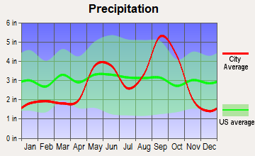 Odem, Texas average precipitation