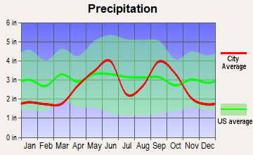 Pettus, Texas average precipitation