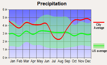 Harleton, Texas average precipitation