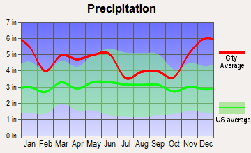 Warren, Texas average precipitation