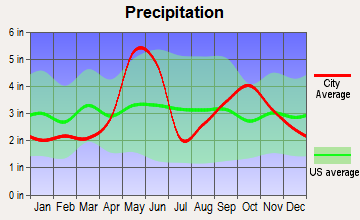 Redwood, Texas average precipitation