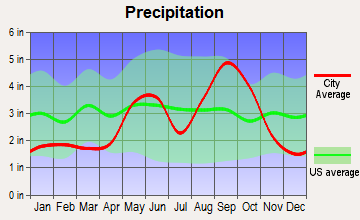 Robstown, Texas average precipitation