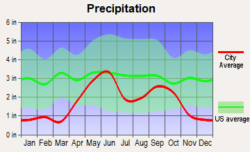 Rosita South, Texas average precipitation
