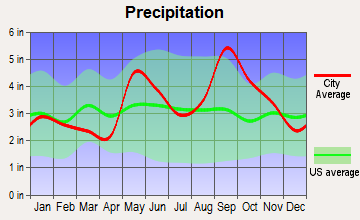 Seadrift, Texas average precipitation