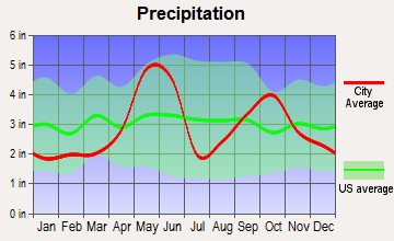 Seguin, Texas average precipitation