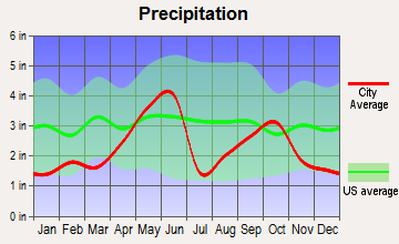 Somerset, Texas average precipitation