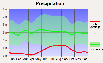 Tornillo, Texas average precipitation