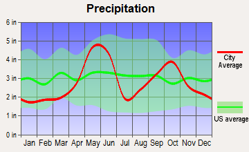 Zuehl, Texas average precipitation