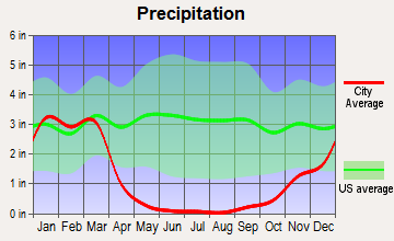 Valley Center, California average precipitation