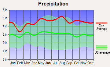 Peru, Vermont average precipitation