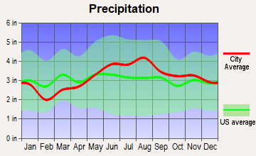 Danville, Vermont average precipitation