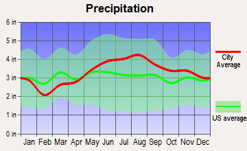 Wheelock, Vermont average precipitation