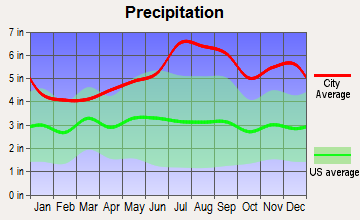 Jay, Vermont average precipitation