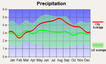 Chittenden, Vermont average precipitation