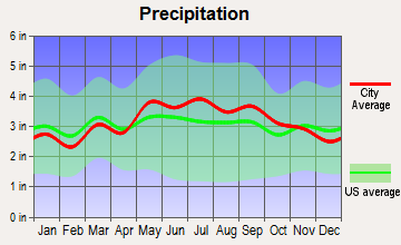 Weyers Cave, Virginia average precipitation